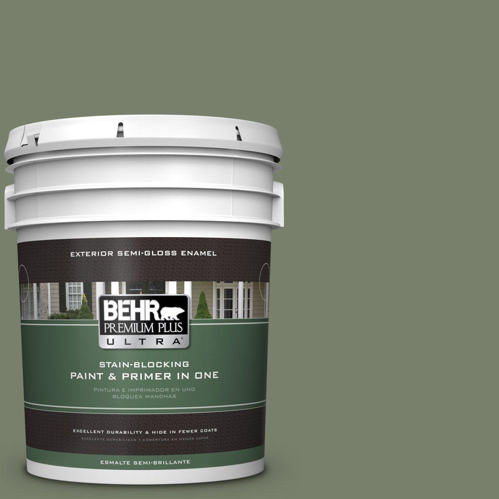 5-gal. #430F-5 Bahia Grass Semi-Gloss Enamel Exterior Paint