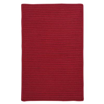 Solid Red 2 ft. x 8 ft. Braided Indoor/Outdoor Runner Rug