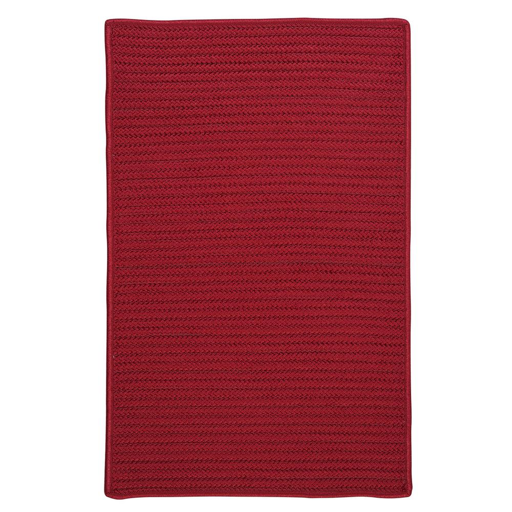 Solid Red 7 ft. x 9 ft. Indoor/Outdoor Braided Area Rug