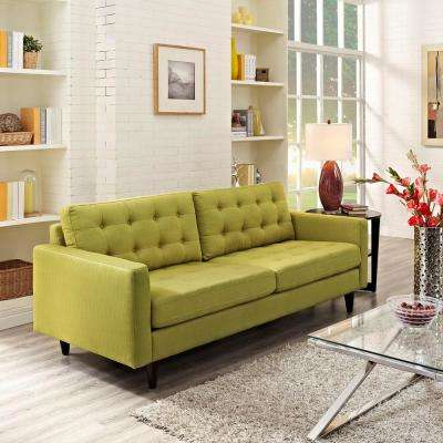Empress Wheatgrass Upholstered Fabric Sofa