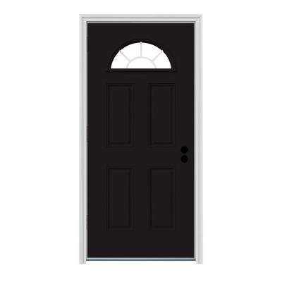 Fanlite Painted Premium Steel Prehung Front Door with Brickmould  sc 1 st  The Home Depot & 30 x 80 - Front Doors - Exterior Doors - The Home Depot pezcame.com