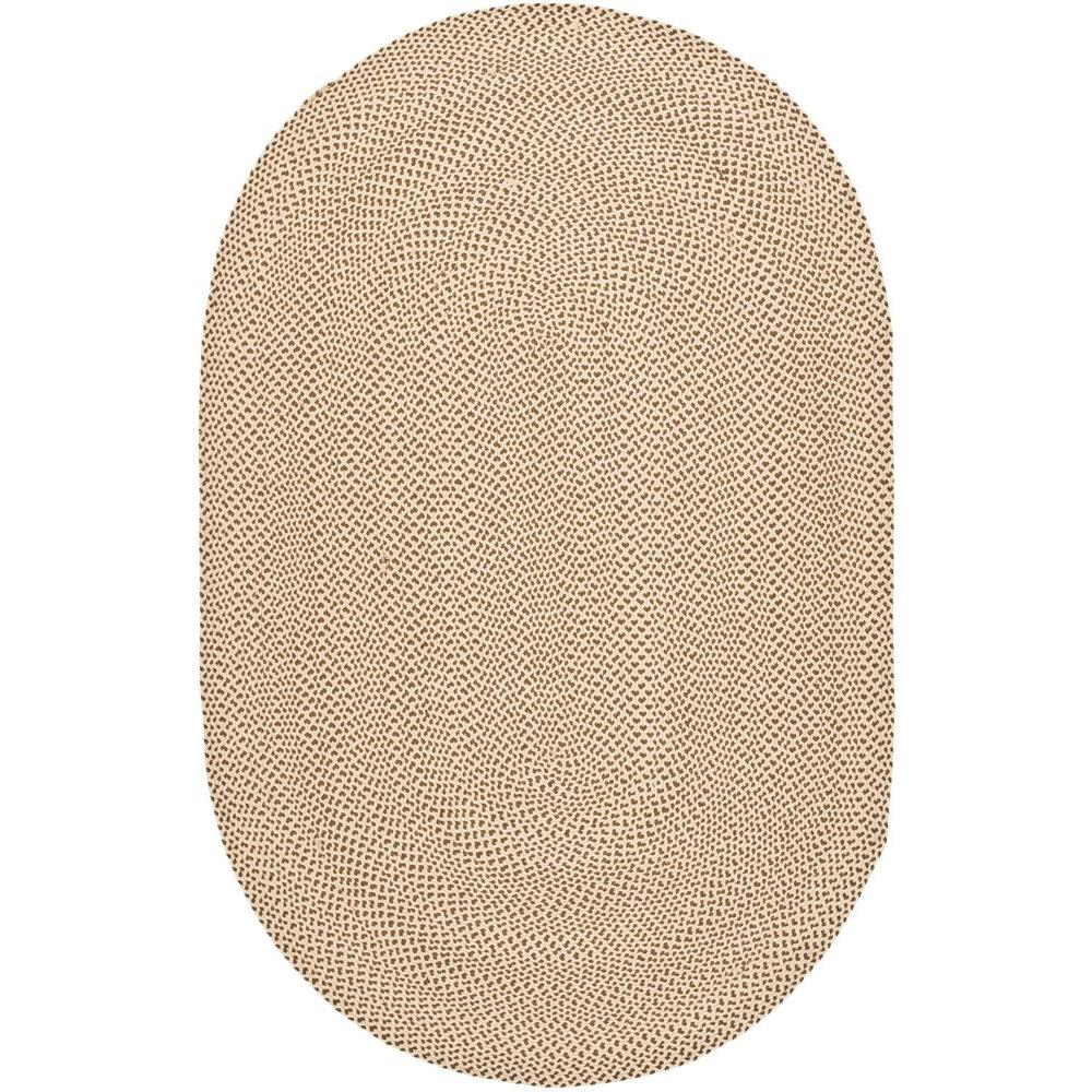 Safavieh Braided Beige Brown 8 Ft X 10 Ft Oval Area Rug