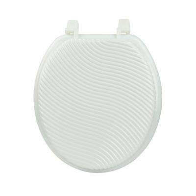 White Waves Round Closed Front Toilet Seat