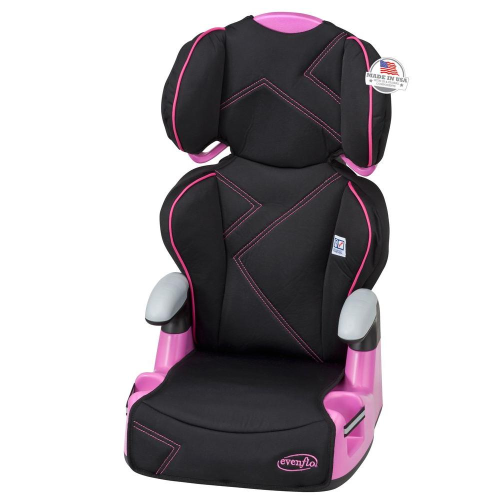 Evenflo AMP High Back Booster Seat in Pink Angles