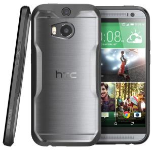 SUPCASE Unicorn Beetle Hybrid Bumper Case for HTC One M8, Clear/Black by