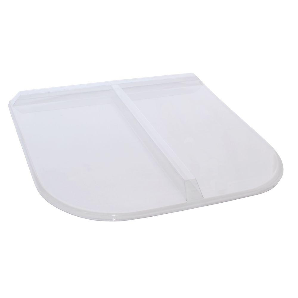 40 in. x 38 in. Polycarbonate U-Shape Egress Cover