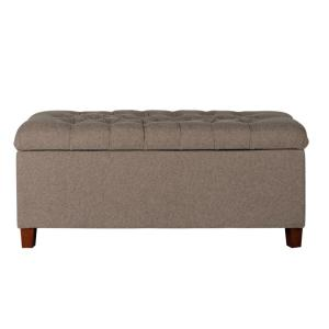 Admirable Homepop Brown Tufted Storage Bench K6138 F1386 The Home Depot Lamtechconsult Wood Chair Design Ideas Lamtechconsultcom