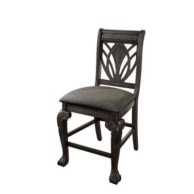 Muriel Dark Gray Counter Height Chairs (Set of 2)