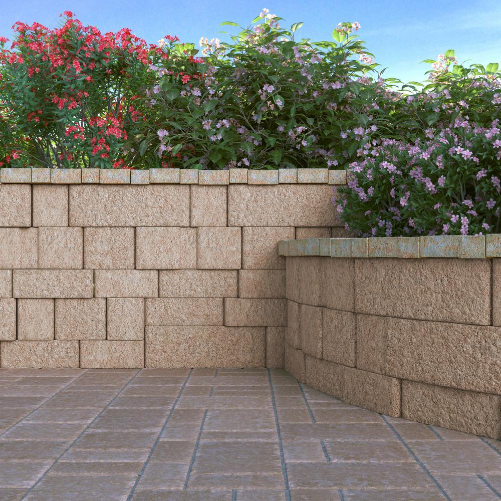 RumbleStone Square 7 in. x 7 in. x 1.75 in. Cafe Concrete Paver