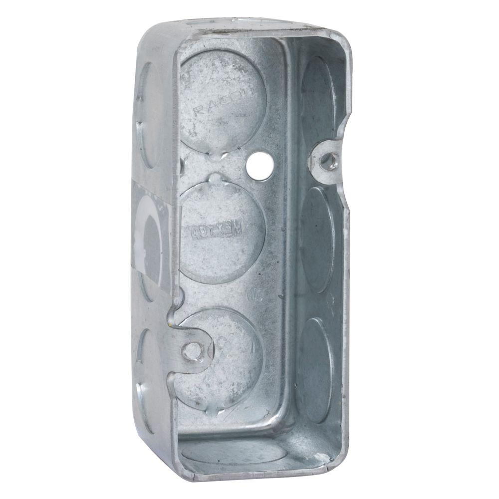 RACO Single Gang Drawn Mini Handy Box, 1-1/2 Deep with 1/2 in. KO's (50-Pack)