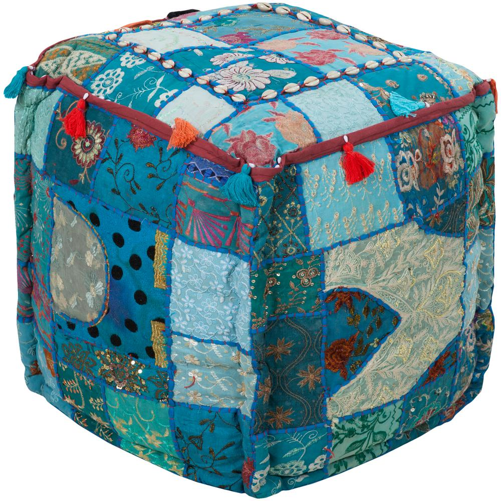 Artistic Weavers Khalida Teal (Blue) Accent Pouf