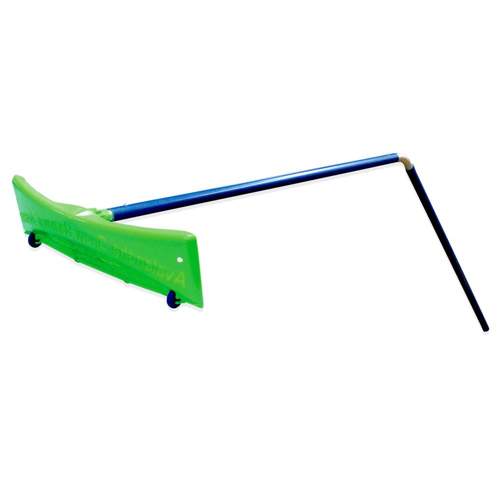 Big-Rig-Rake 24 in. Wide Snow Rake with Angled Pole For Clearing