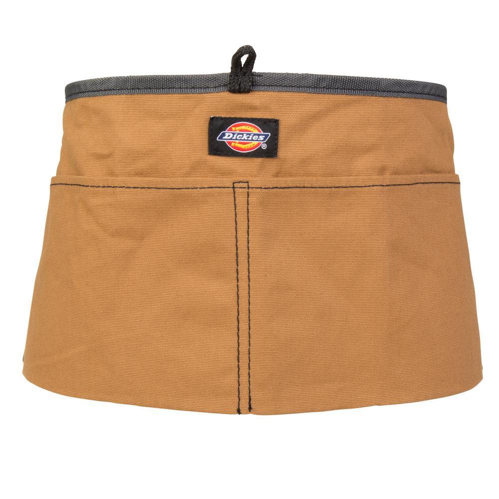 dickies 2 pocket light weight canvas tool work apron in black rh homedepot com
