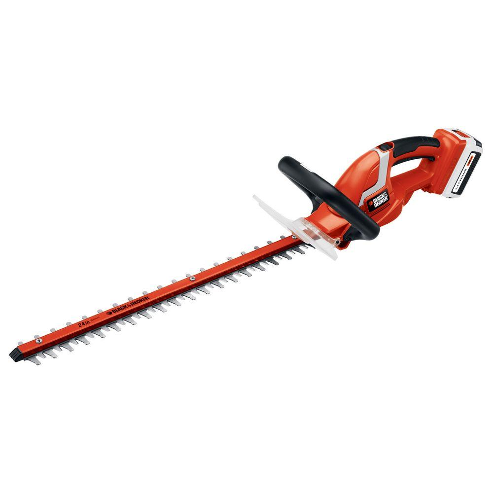 BLACK+DECKER 24 in. 40-Volt MAX Lithium-Ion Cordless Hedge Trimmer with 1.5Ah Battery and Charger Included