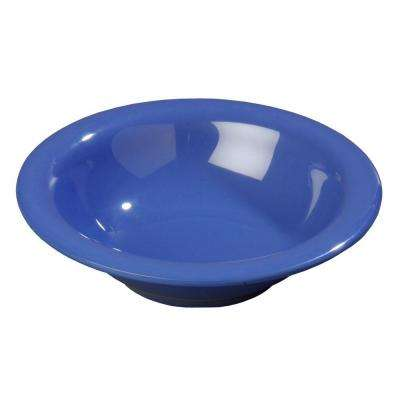 12.9 oz., 7.25 in. Diameter Melamine Rimmed Bowl in Ocean Blue (Case of 24)