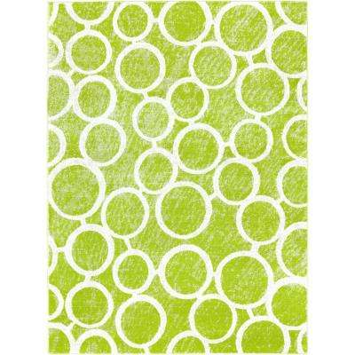 Tanja Martine Green 3 ft. 10 in. x 5 ft. 2 in. Indoor Area Rug
