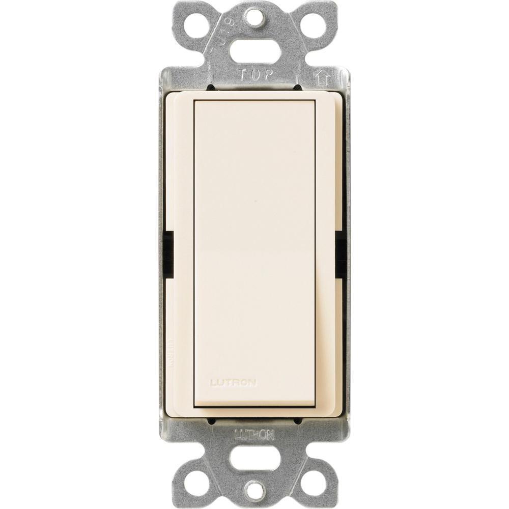 Claro On/Off Switch, 15-Amp, Single-Pole, Eggshell