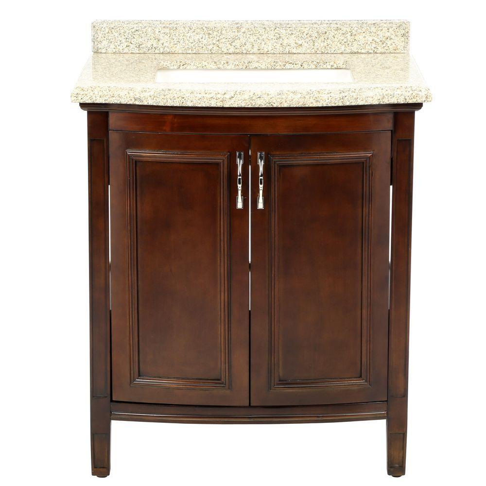Sheba 30 In Vanity Cocoa With Granite Top Speckled Beige