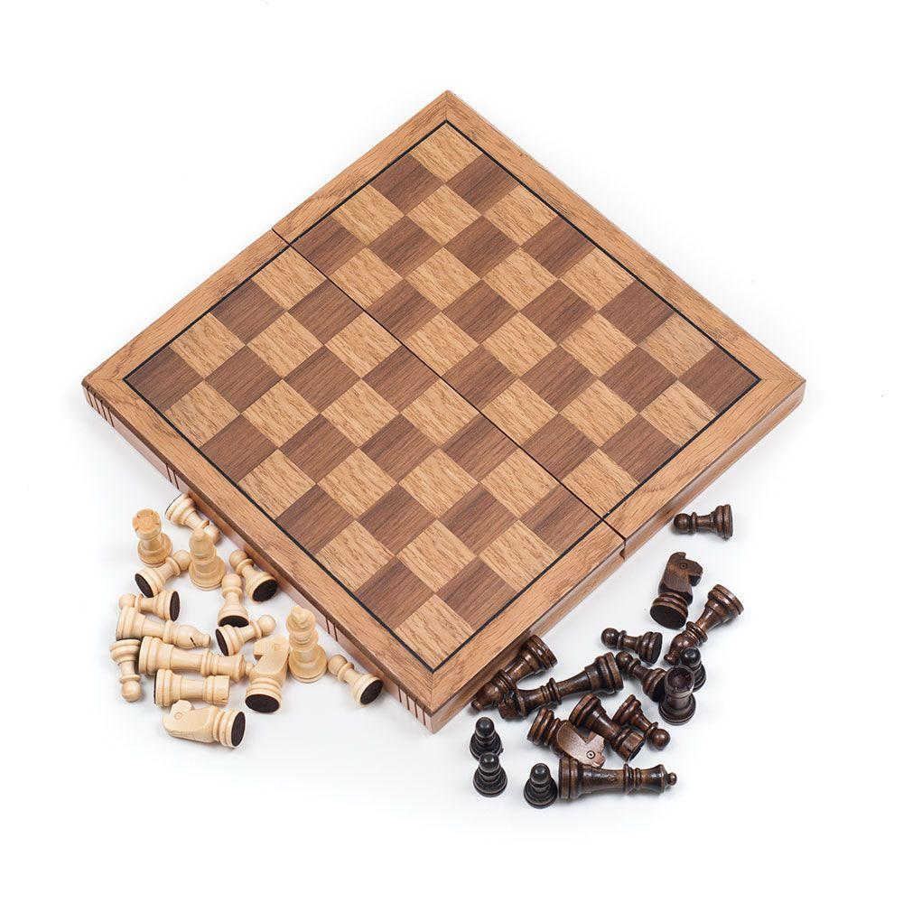 Trademark Games Wooden Book Style Chess Board With Staunton Chessmen