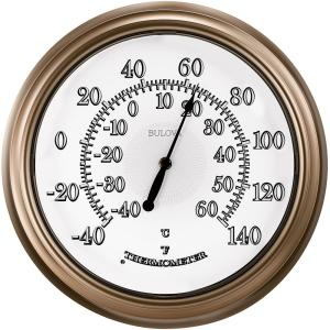 Bulova 14 in. Indoor Outdoor Thermometer-C4827 - The Home Depot