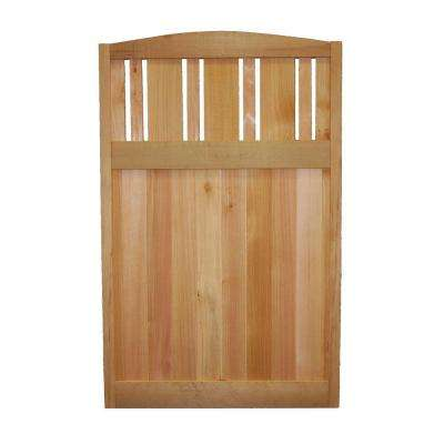 4 ft. x 2.5 ft. Western Red Cedar Vert Skip Lattice Deluxe Arched Fence Panel