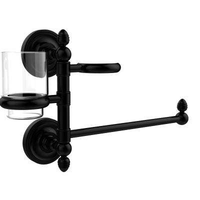 Prestige Regal Collection Hair Dryer Holder and Organizer in Matte Black
