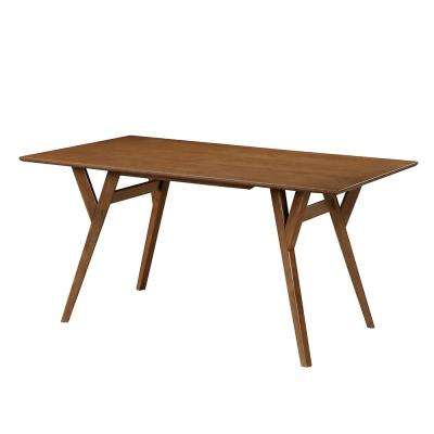 Walnut Rectangular Wood Dining Room Table