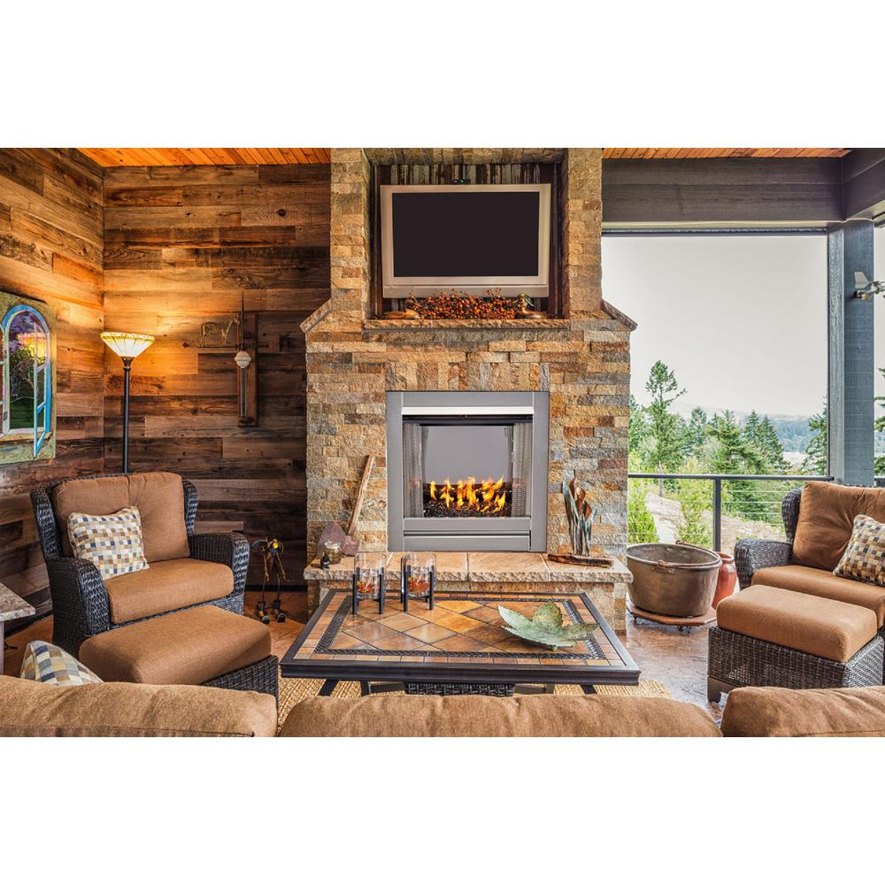 Duluth Forge 31 5 In Stainless Vent Free Outdoor Gas Fireplace