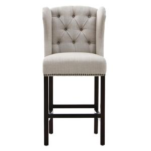 Home Decorators Collection Madelyn 27.25 inch Tan Cushioned Counter Stool in Espresso by Home Decorators Collection