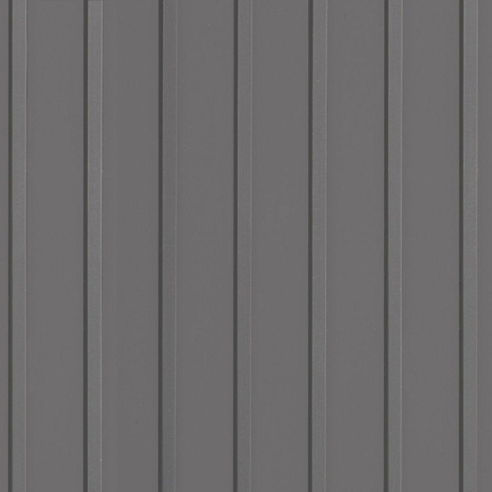 HDX 10 ft. Wide Channel Grey Vinyl Universal Flooring Your Choice Length