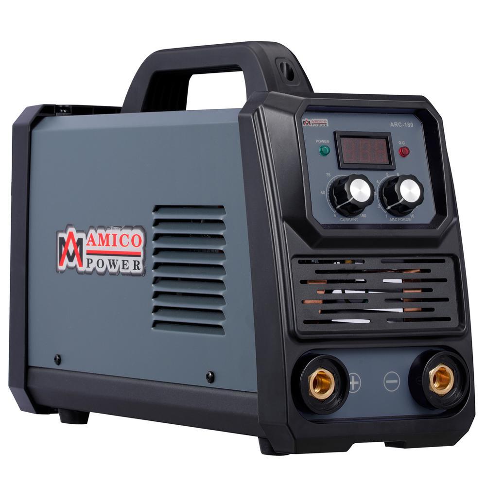 100-250V Wide Voltage Amico ARC-180 Amp Stick Arc DC Welder 80/% Duty Cycle.