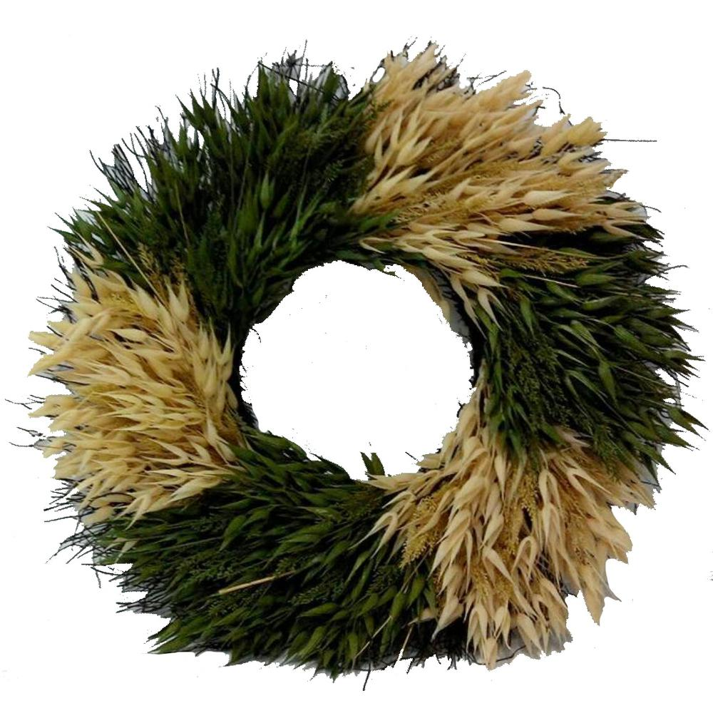 Home Accents Holiday 23 in. Artificial Fall Wreath with Straws Decor