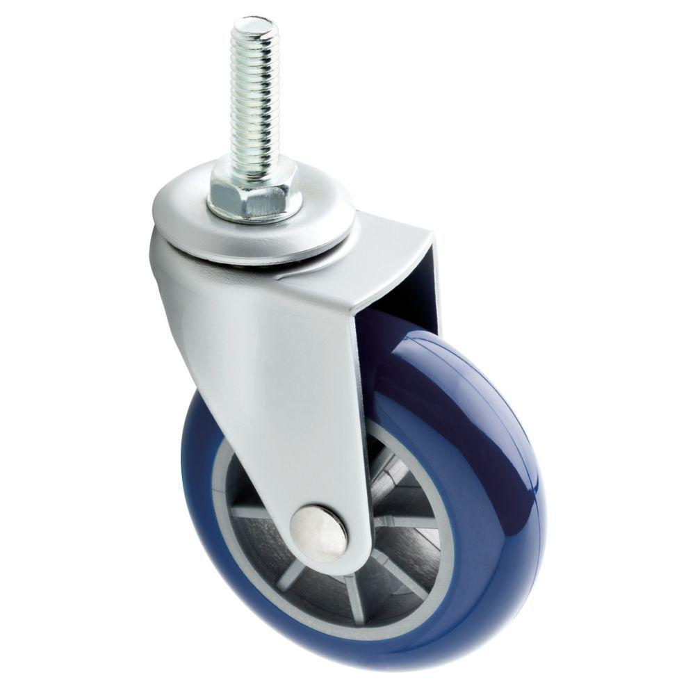 2-1/2 in. Navy Swivel Stem Caster with 130 lb. Load Rating