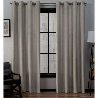 Loha 54 in. W x 84 in. L Linen Blend Grommet Top Curtain Panel in Vintage Linen (2 Panels)
