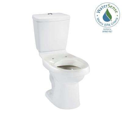 Karsten 2-piece 0.8 or 1.6 GPF Dual Flush Elongated Toilet in White