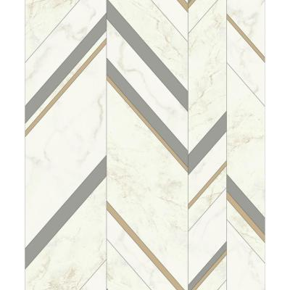 56.9 sq. ft. Marble Chevron Wallpaper