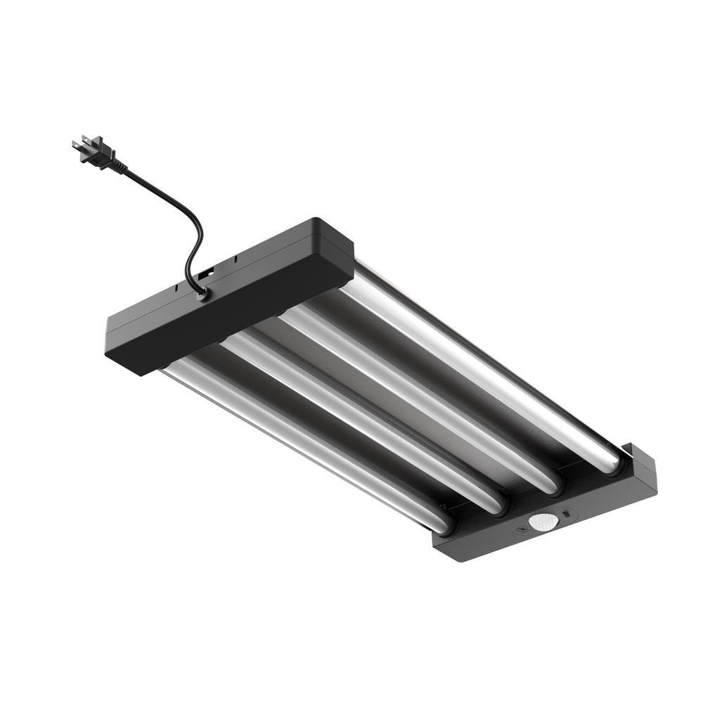 2 ft. 4-Light White Integrated Utility LED Motion Control Garage Light