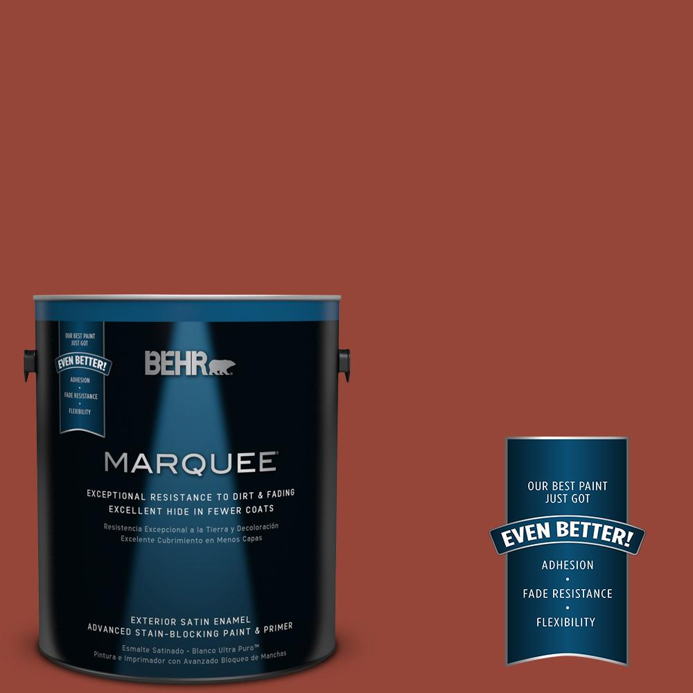 BEHR MARQUEE 1-gal. #S-H-200 New Brick Satin Enamel Exterior Paint
