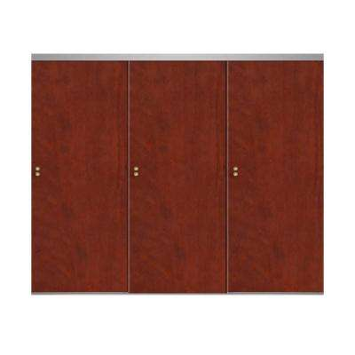 Smooth Flush Solid Core Primed Chrome Trim MDF Interior Closet Sliding Door