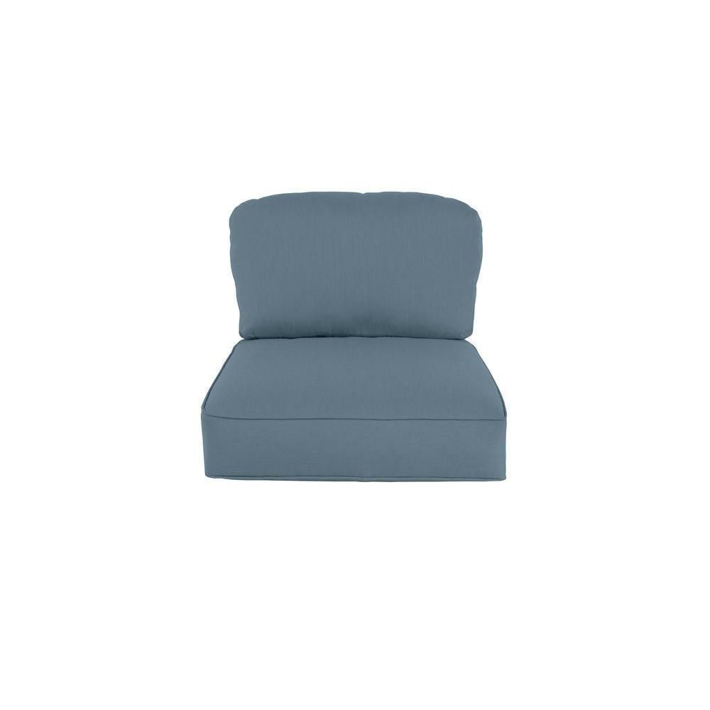 Northshore Replacement Outdoor Lounge Chair Cushion in Denim
