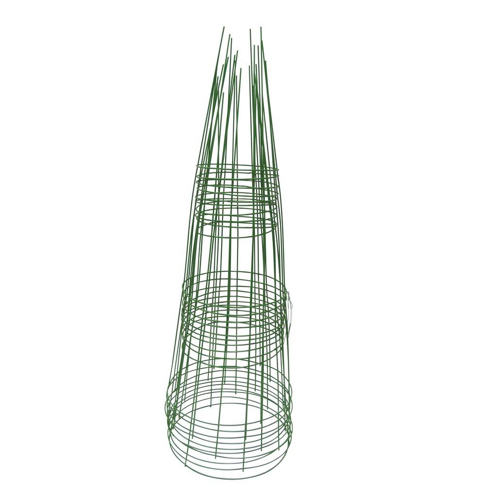 Glamos Wire Products 33 in. Light Green Tomato Support (10-Pack ...