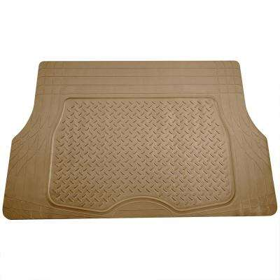 Beige Heavy Duty 47 in. x 32 in. Premium Trim to Fit Vinyl Cargo Mat