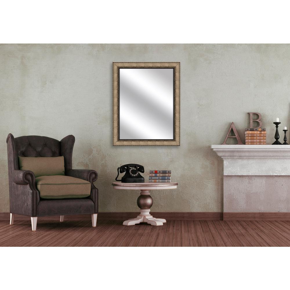 31.5 in. x 25.5 in. Medium Champagne Framed Mirror