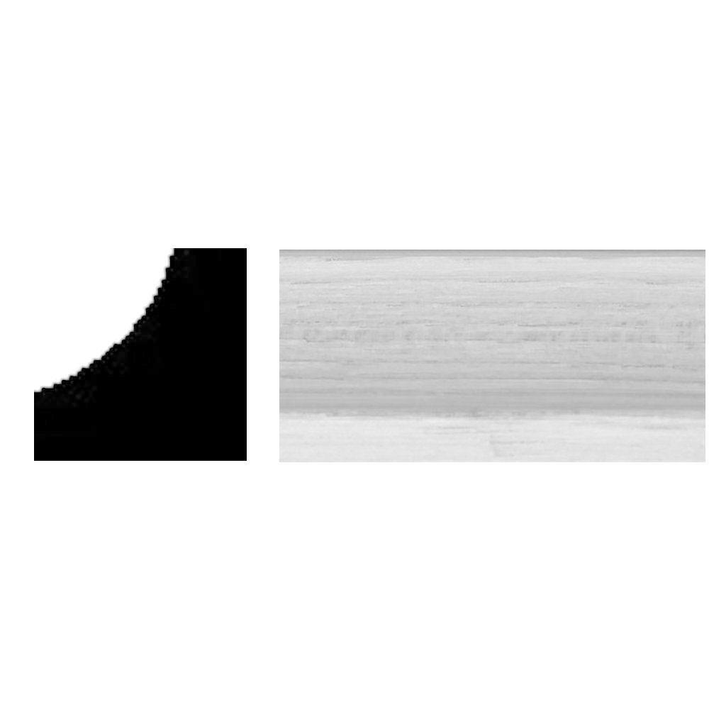 null 11/16 in. x 11/16 in. x 8 ft. Wood Primed Inside Corner Moulding