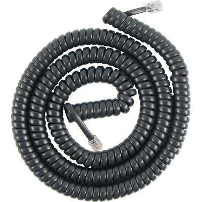 25-ft. Coil Cord Phone Handset, Black