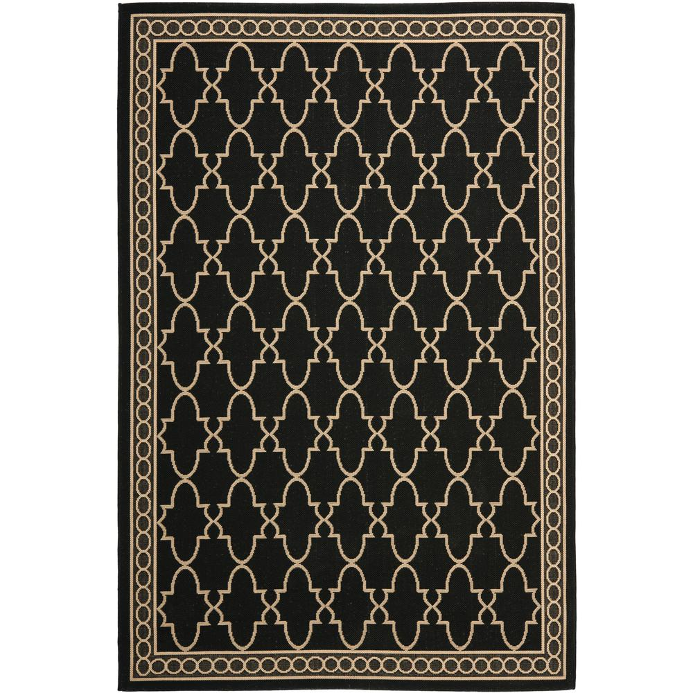 Safavieh Courtyard Black Beige 8 Ft X 11 Ft Indoor