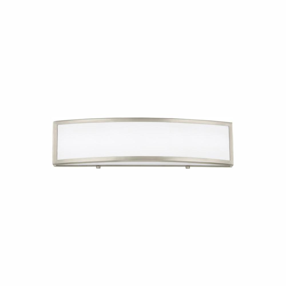 Sea Gull Lighting Colusa 19.25 in. W. 16.5-Watt Brushed Nickel Integrated LED Bath Light
