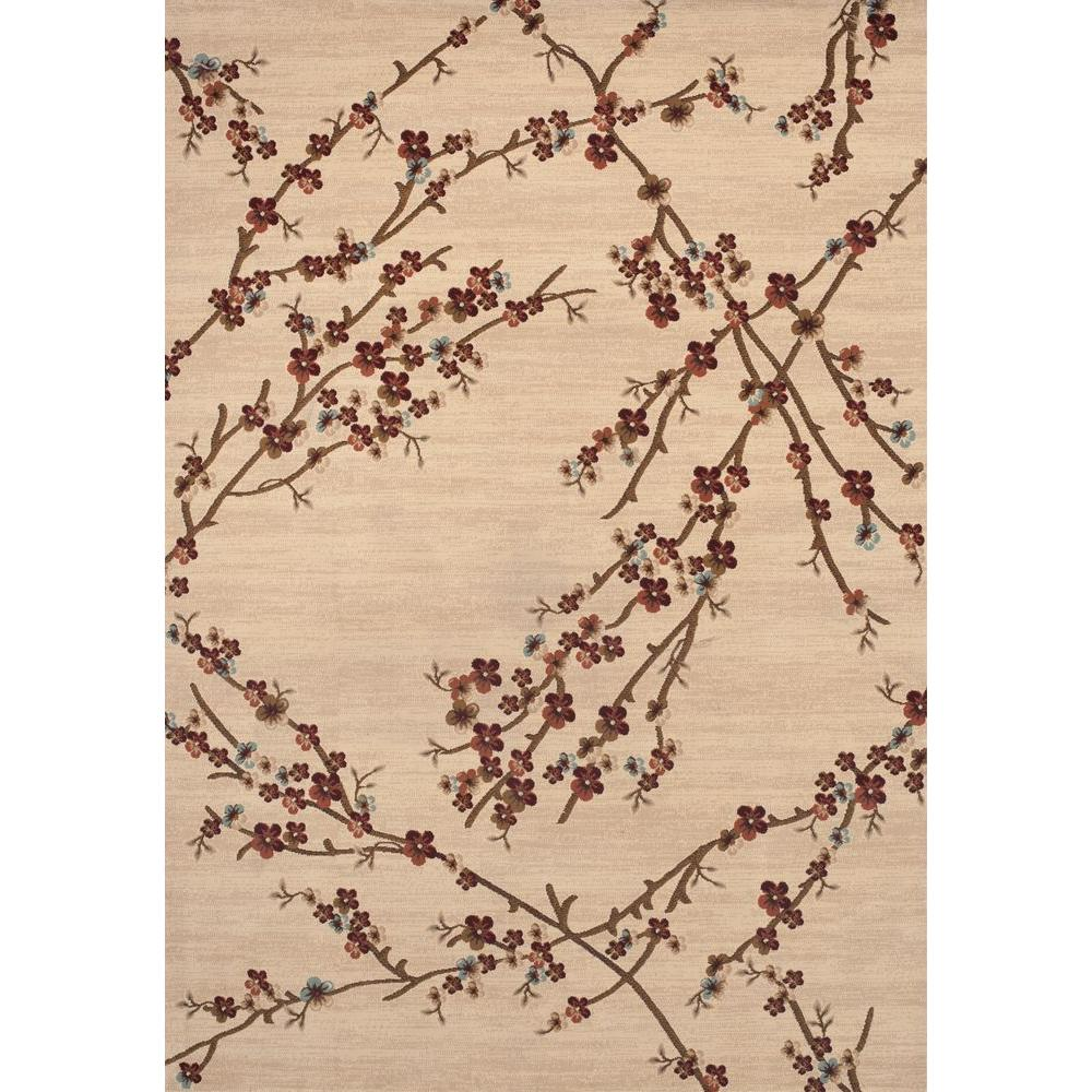 Cherry Blossom Area Rug Part - 35: World Rug Gallery Manor House Beige Branches 5 Ft. 3 In. X 7 Ft