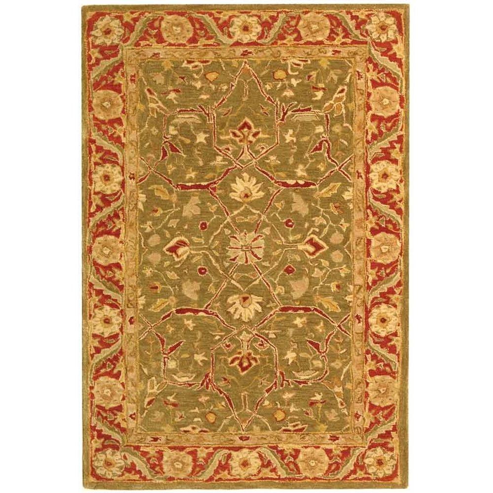 Anatolia Green/Red 4 ft. x 6 ft. Area Rug