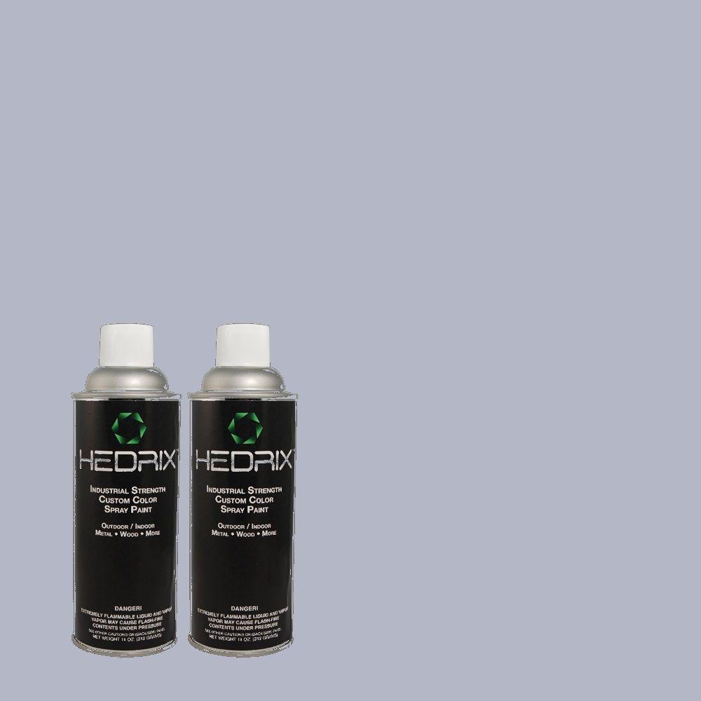 Hedrix 11 oz. Match of PPU15-14 Ballroom Blue Gloss Custom Spray Paint (8-Pack)